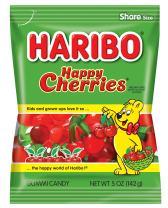 Haribo Gummi Candy, Happy Cherries, 5 oz. Bag (Pack of 12)