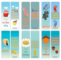 Creanoso Funny Food Idioms Bookmarks Series I (30-Pack) – Stocking Stuffers Gift for Chefs, Cooks, Food Lovers, Men, Women, Adults – Book Reading Rewards Incentives – Employee Giveaways – Page Clip