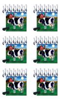"""Beistle Pin The Tail On The Cow Games 6 Piece Farm Animal Party Favors, Birthday Supplies, Western Decor, 17.25"""" x 19"""", Multicolored"""