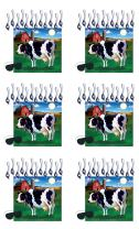 "Beistle Pin The Tail On The Cow Games 6 Piece Farm Animal Party Favors, Birthday Supplies, Western Decor, 17.25"" x 19"", Multicolored"