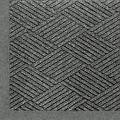 "M+A Matting 2297 Waterhog Eco Premier Fashion PET Polyester Fiber Indoor/Outdoor Floor Mat, SBR Rubber Backing, 3' Length x 2' Width, 3/8"" Thick, Grey Ash"