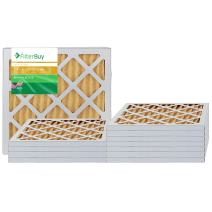 FilterBuy 12x12x1 MERV 11 Pleated AC Furnace Air Filter, (Pack of 12 Filters), 12x12x1 – Gold