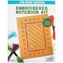 Kid Made Modern Embroidered Notebook Craft Kit - Kids Arts & Crafts   Kid Journal