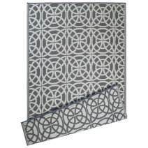DII Contemporary Indoor/Outdoor Lightweight Reversible Fade Resistant Area Rug, Great For Patio, Deck, Backyard, Picnic, Beach, Camping, & BBQ, 4 x 6', Gray Infinity Circle