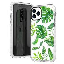 iPhone 11 Pro Max Case Clear,Summer Big Green Bahama Leaves Tropical Palm Tree Beach Hawaii Trendy Cute Hipster Girls Women Spring Soft Protective Clear Design Case Compatible for iPhone 11 Pro Max