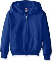 Hanes Boys EcoSmart Fleece Full Zip Hooded Jacket
