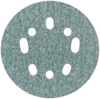 Norton 3X 5 & 8 Hole Universal Vacuum Abrasive Fiber Disc, Fiber Backing, Hook & Loop, Aluminum Oxide, 5 in. Diameter, Grit P80 (Pack of 10)