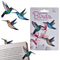 Stikki Marks Bookmarks Novelty Reusable Notepad Book Page Markers - Pack of 30 (Humming Birds)