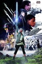 "Trends International Star Wars: The Last Jedi - Group, 22.375"" x 34"", Premium Unframed"