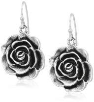 1928 Jewelry Flower Drop Earrings