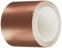 3M 1245 Embossed Copper Foil Tape - 0.625 in. x 18 ft. Pressure-Sensitive Acrylic Adhesive Roll for Grounding, EMI Shielding