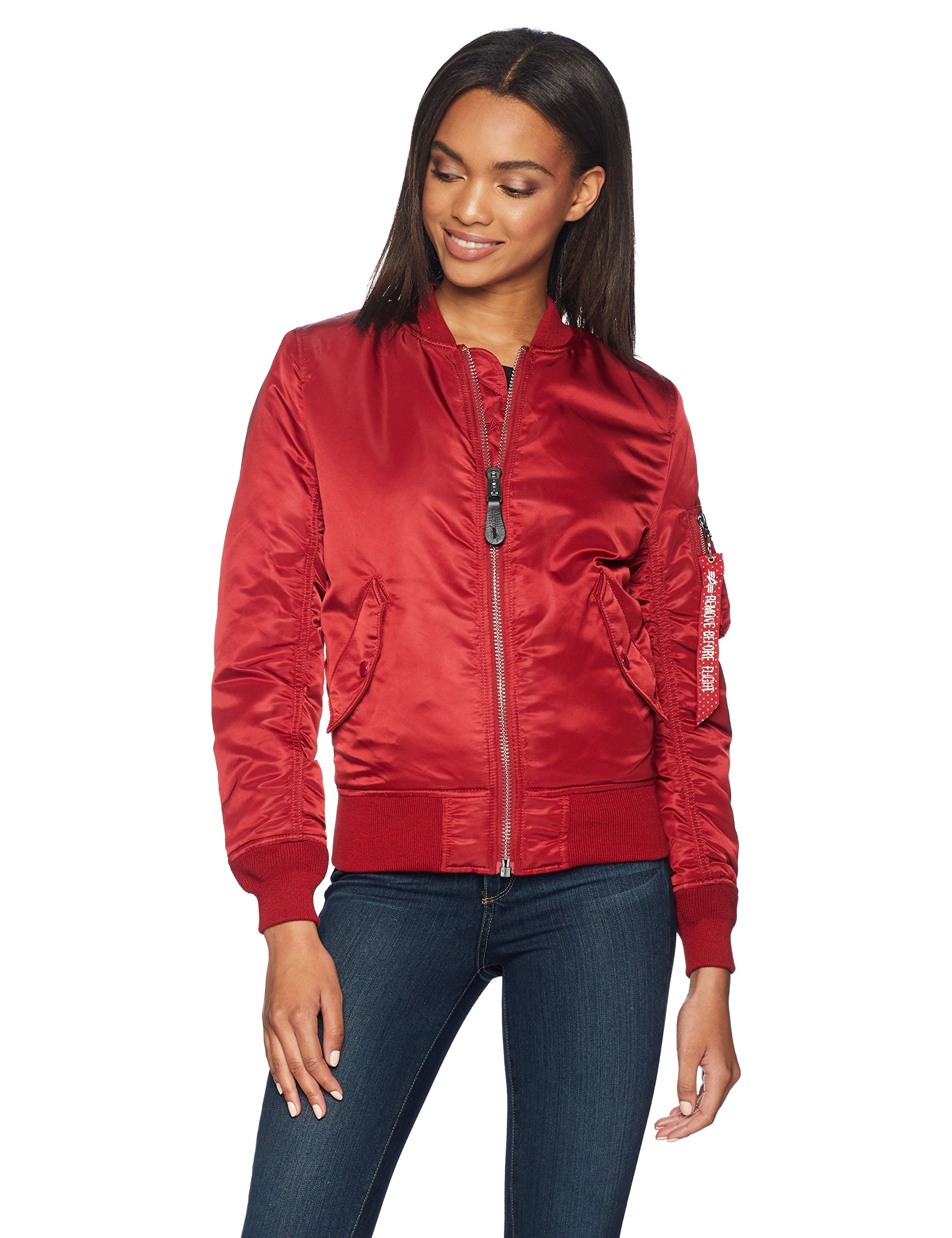 Alpha Industries Women's Ma-1 Flight Nylon Reversible Bomber Jacket