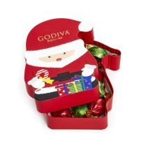 Godiva Chocolatier Christmas Santa Gift Box with 8pcs Individually Wrapped Chocolate Truffles