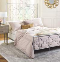 Safavieh Home Morris Moroccan Antique Silver Bed, Full