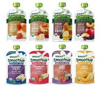 Sprout Organic Stage 4 Toddler Food, Power Pak & Smoothie Variety Sampler, 4 Ounce (Pack of 12)