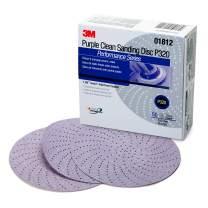 "3M 01812 Hookit 334U Purple 6"" P320C Grit Clean Sanding Disc"
