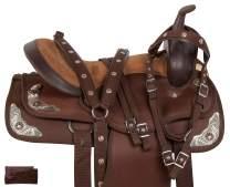Acerugs Barrel Racer Western Cordura Light Weight Comfy Horse Saddle Set 14 15 16 17 18