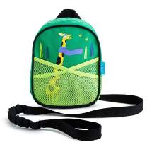 Munchkin Brica by-My-Side Toddler Safety Harness Backpack with Leash, Giraffe, Green
