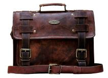"Handmade World Laptop Bag Vintage Men Brown Leather Briefcase Messenger Bags (12"" X 16')"