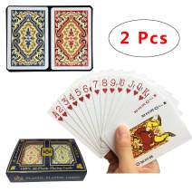 Neasyth Waterproof Plastic Playing Cards,2 Decks of Cards for Magic Props, Pool Beach Water Card Games