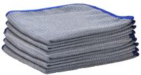 """Detailer 365 Ultraplush Premium Waffle Microfiber Towels 400 GSM Thread Count for Ultra Smooth Polishing and Drying 