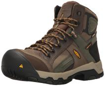 KEEN Utility Men's Davenport Mid All Leather Waterproof Industrial and Construction Shoe