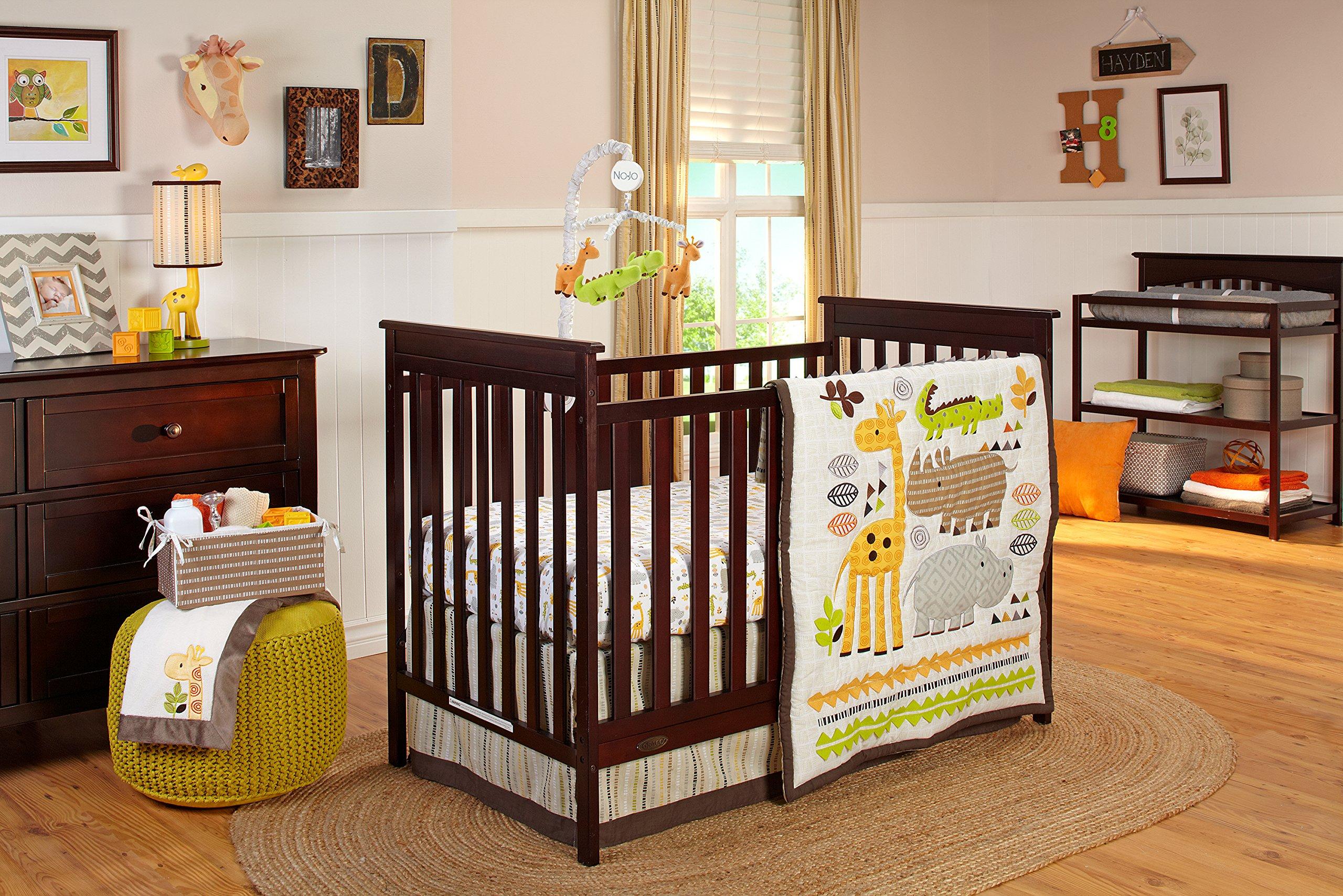 NoJo Zoobilee Crib Bedding Set, 4 Count