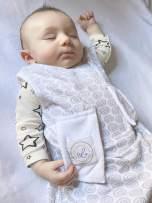Bitta Kidda Baby Soother Sleeping Bag Wearable Blanket + Lovey (3-9 Months, Grey Circles)