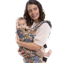 Boba Baby Carrier Classic 4Gs - Bee Garden - Backpack or Front Pack Baby Sling for 7 lb Infants and Toddlers up to 45 pounds