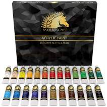 Acrylic Paint Set - 24 x 21ml Tubes - Heavy Body - Lightfast - Artist Quality Paints by MyArtscape™