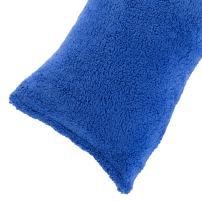 """Body Pillow Cover. Sherpa with side zipper by Lavish Home – 18 """"x52"""" (Blue)"""