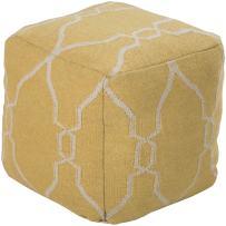 """Jill Rosenwald by Surya Hand Made 100% Wool Ivory 18"""" x 18"""" x 18"""" Pouf"""