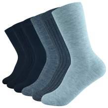 rifix 6Pairs Womens Dress Socks,Super Soft Modal,Business Casual Lightweight Socks