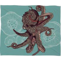 Deny Designs Valentina Ramos Octopus Bloom Fleece Throw Blanket, 60 x 80