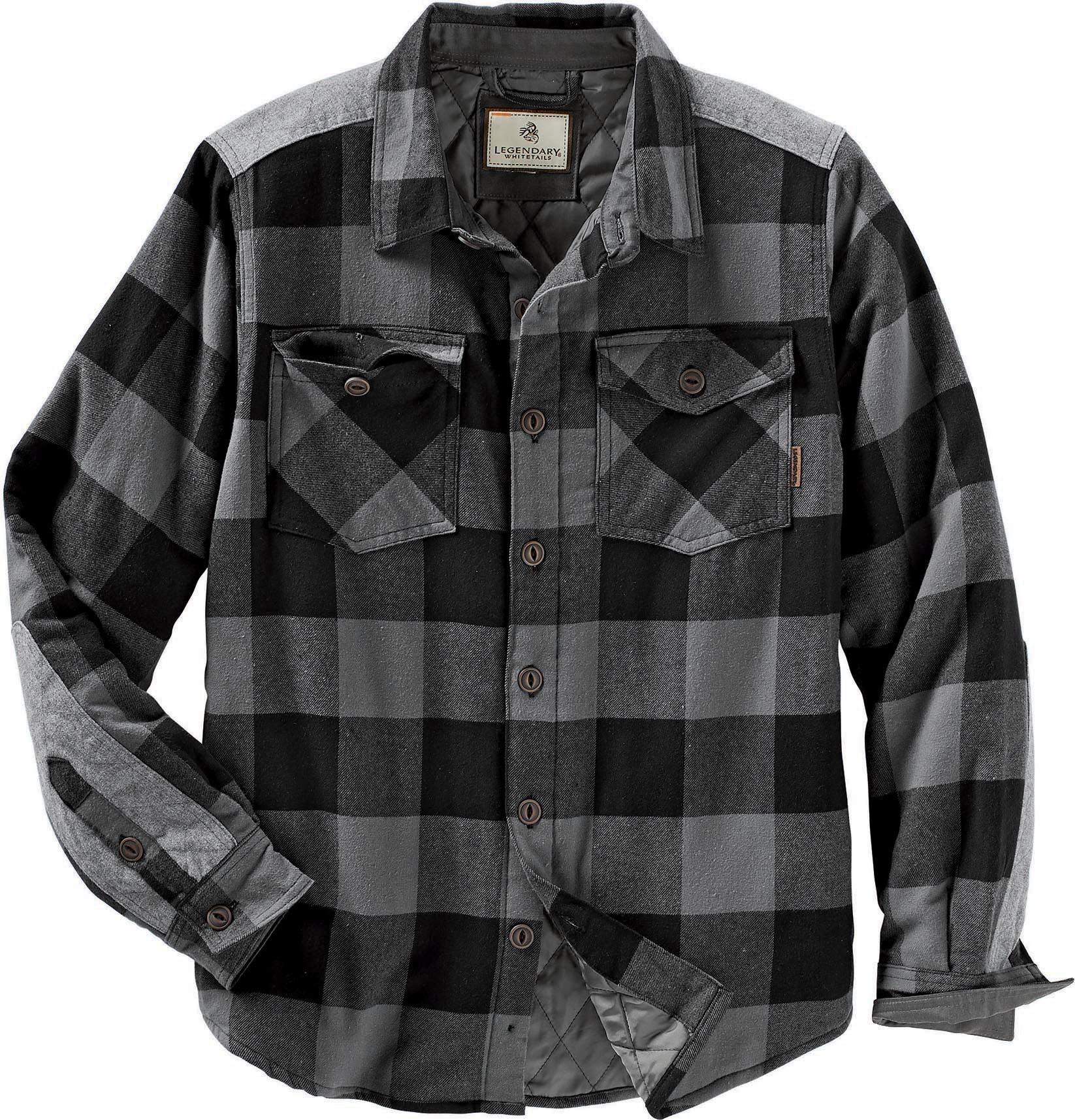 Legendary Whitetails mens Woodsman Heavyweight Quilted Shirt Jacket
