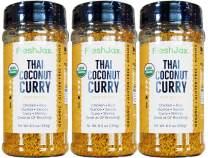 FreshJax Gourmet Thai Coconut Curry Yellow Mild Large 6.5 oz (3 Pack)