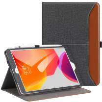 Ztotop for iPad 7th Generation Case iPad 10.2 Case 2019, Premium PU Leather Slim Folding Stand Cover with Auto Wake/Sleep, Multiple Viewing Angles Case for iPad 7th Gen 10.2 Inch, Denim Black