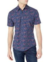 Amazon Essentials Men's Short-Sleeve Slim-fit Casual Poplin Shirt