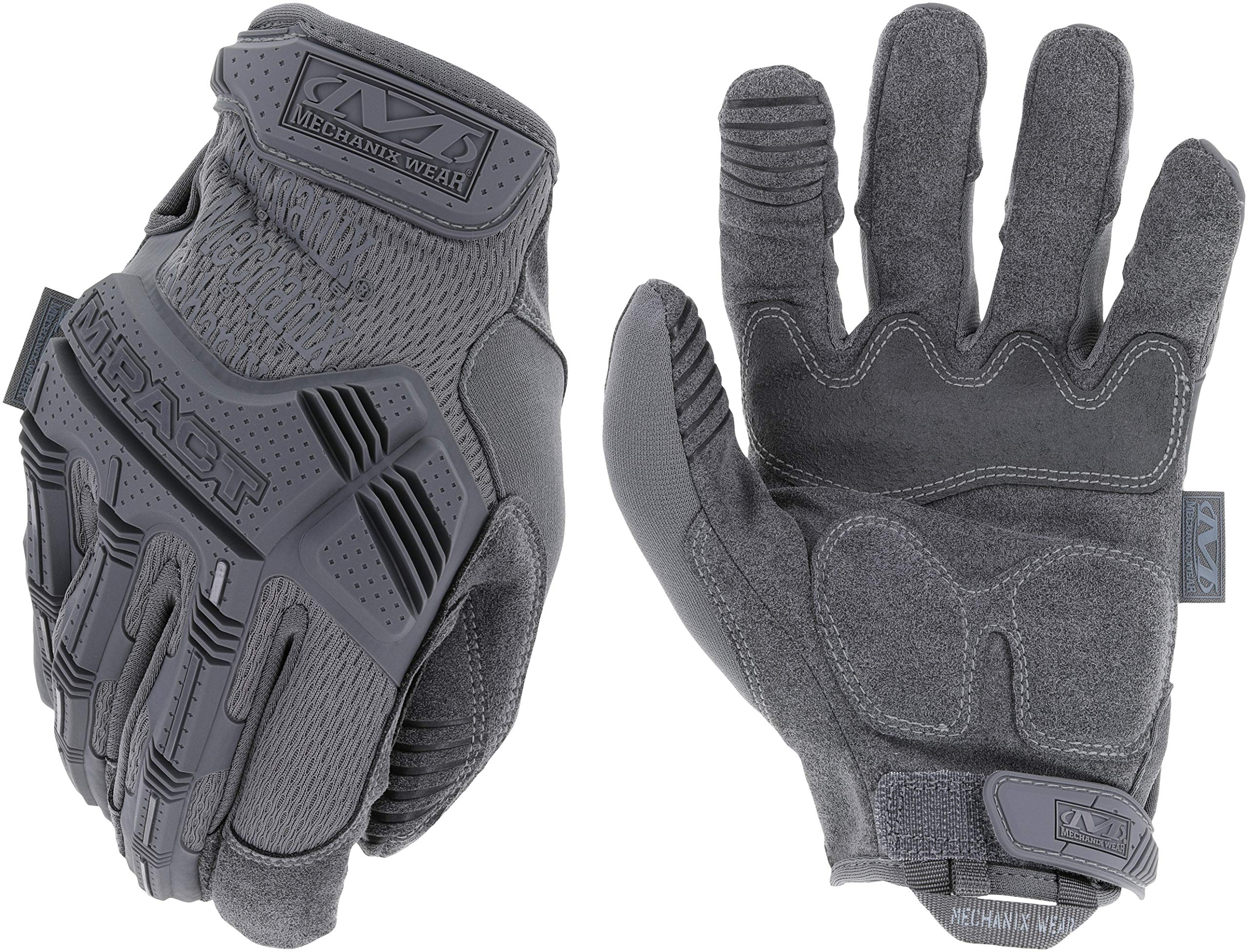 Mechanix Wear - M-Pact Wolf Grey Tactical Gloves (XX-Large, Grey)