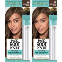L'Oreal Paris Magic Root Rescue 10 Minute Root Hair Coloring Kit, Permanent Hair Color with Quick Precision Applicator, 100% Gray Coverage, 4G Dark Golden Brown, 2 count