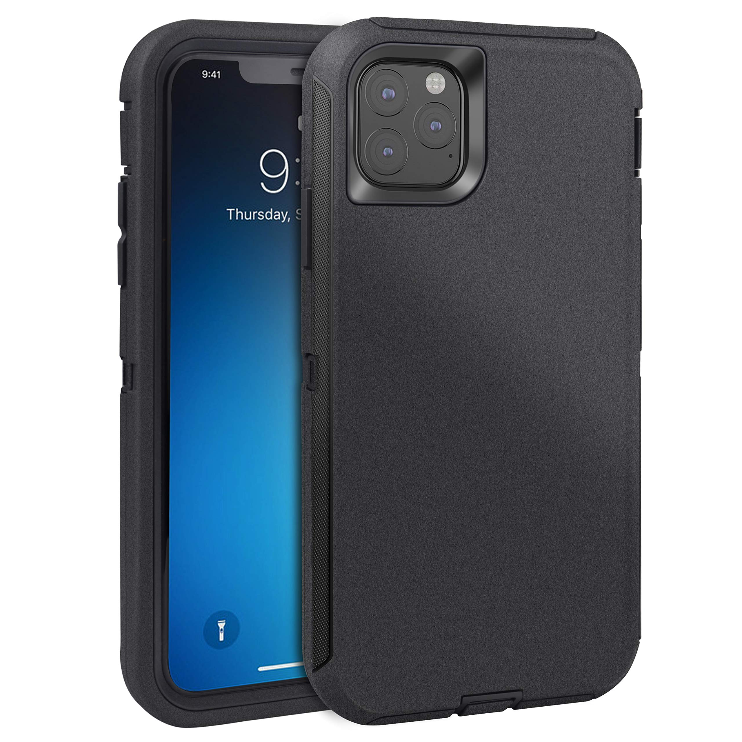 FOGEEK Case for iPhone 11 Pro Max, iPhone XI Pro Max Case, Heavy Duty Rugged Case, Full Body Protective Cover [Shockproof] Compatible for iPhone 11 Pro Max 2019 [6.5 Inch] (Black)
