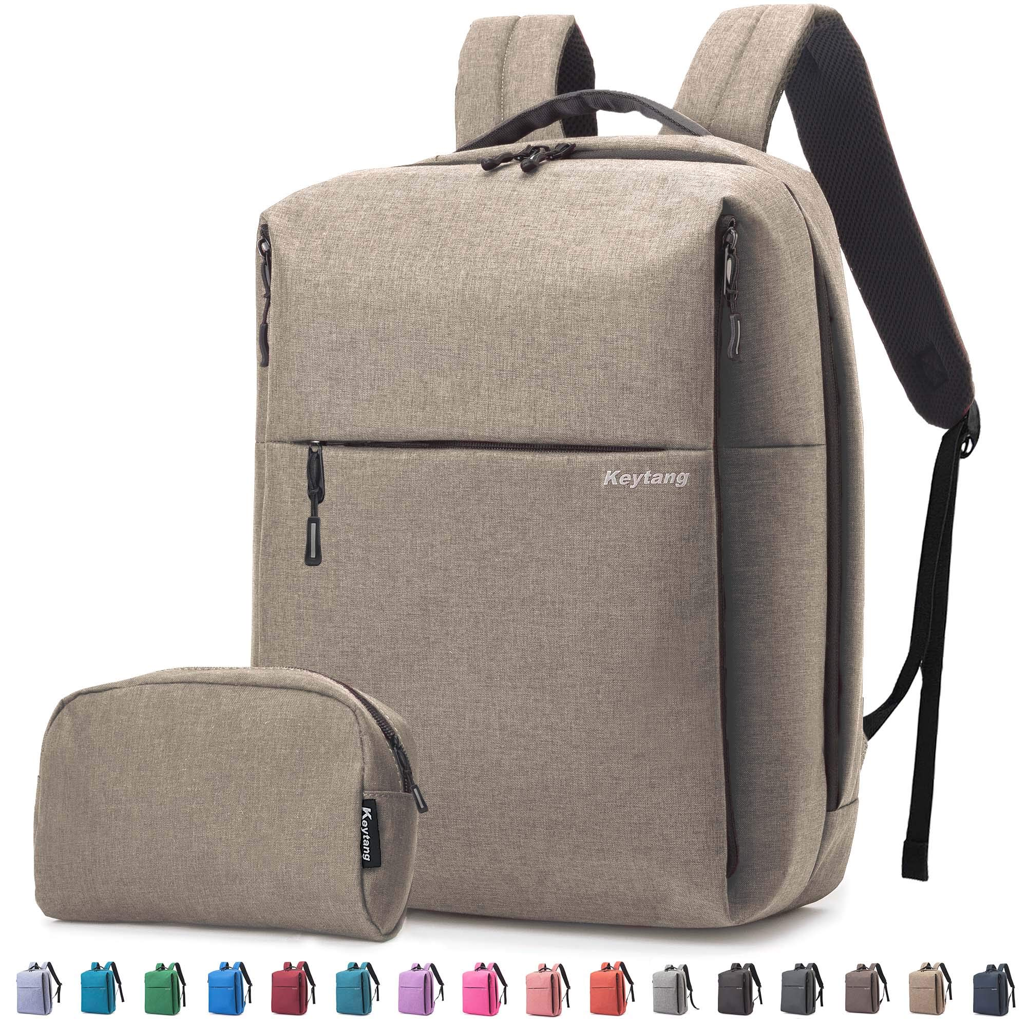 Travel Laptop Business Backpack, Anti Theft Water Resistant School Computer Bagpack Gifts for Men & Women,Fits 15.6 Inch Notebook with USB Charging Port Bonus a Small pencil Case, Earth color