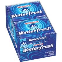 Wrigley's Winterfresh Gum 15-Stick Pack (10 Packs)