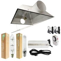 """Hydro Crunch NK3-B6-R03-L0102 600-Watt Grow Light Digital Dimmable HPS & MH System for Plant with 6"""" Extra Large Air Cooled Hood Reflector, 6-inch"""