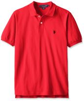 U.S. Polo Assn. Mens Classic Small Pony Solid Pique Polo Shirt