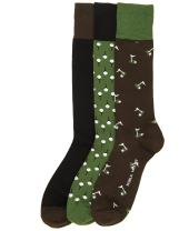 Noble Mount Mens Combed Cotton Dress Socks 3-Pack