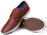 Mio Marino Men Casual Oxford Shoes - Mens Casual Dress Fashion Shoes - Urban Rugged Collection - Tan Cognac - 8 D(M) US