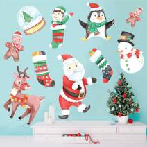 Chromantics Christmas Holiday Watercolor Wall Decal Sticker Kit