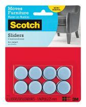 """Scotch Self-Stick Sliders, 1"""", 8-Sliders (SP643)"""