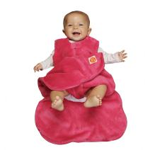 GUNAMUNA Gunapod Sleep Sack Unisex Fleece Wearable Blanket Baby Sleeping Bag, Pink, 3-9 Months
